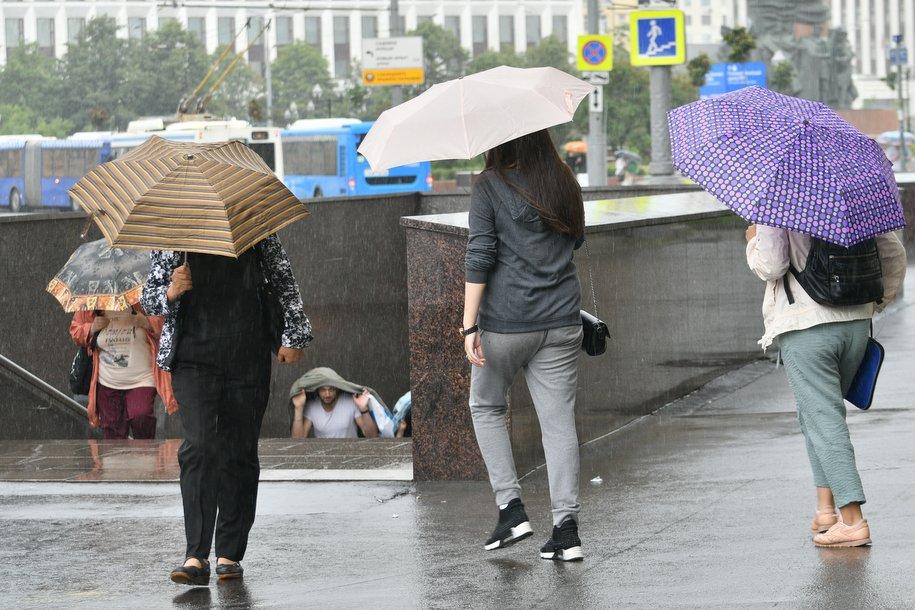 МЧС предупредило москвичей о ливнях и грозах, крупном граде и сильном ветре до конца пятницы