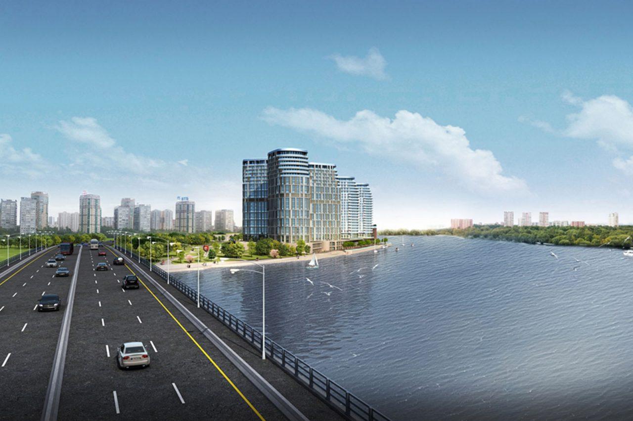 Началась реконструкция набережной канала имени Москвы в ЖК Aquatoria