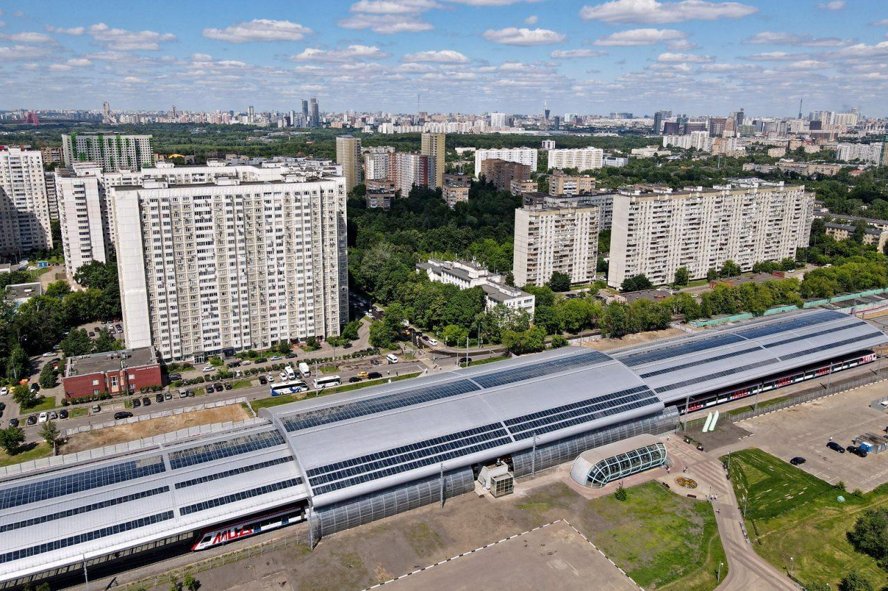 Станцию МЦД-1 Славянский бульвар украсил гигантский купол