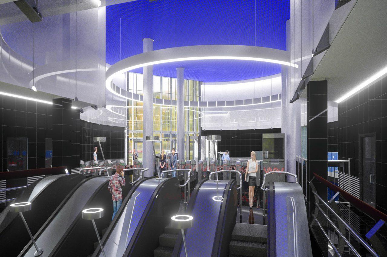 Монтаж эскалаторов начался на станции «Электрозаводская» Большой кольцевой линии метро
