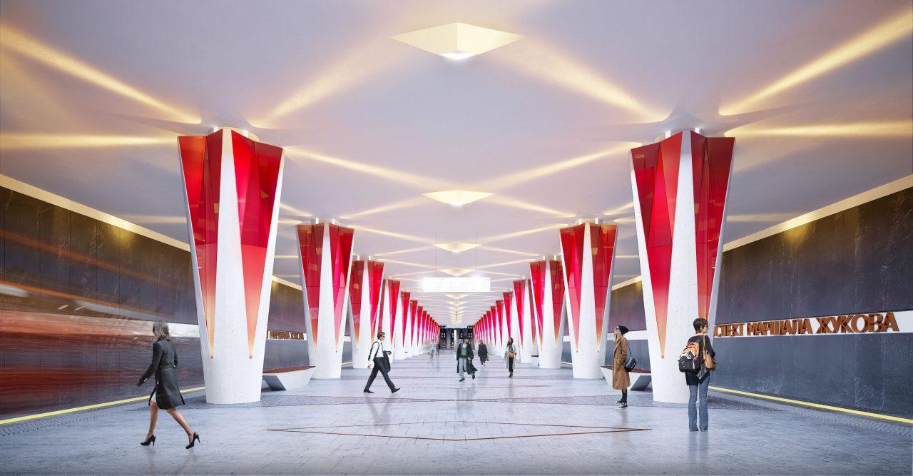 Дизайнером новой станции мосметро «Проспект маршала Жукова» станет столичное бюро