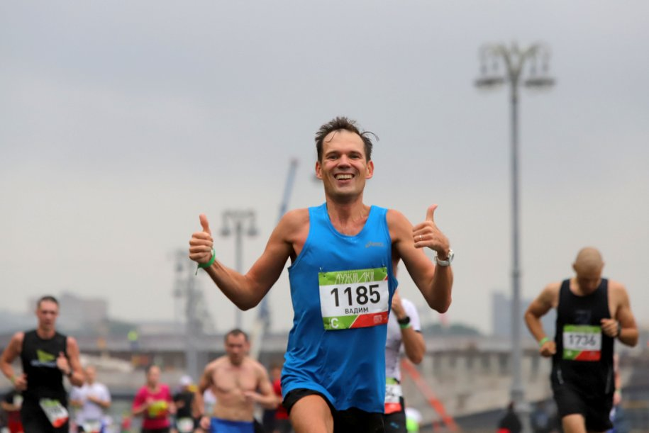 Мэр Москвы поздравил участников Московского марафона