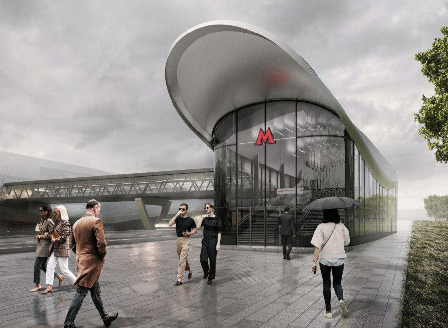В столице представили проект станции «Новомосковская»