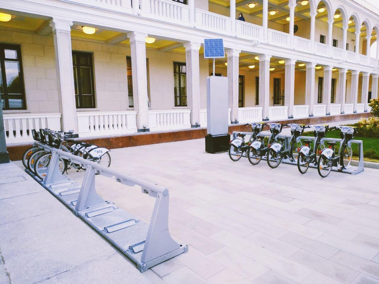 На Северном речном вокзале появился велопрокат и велопарковки