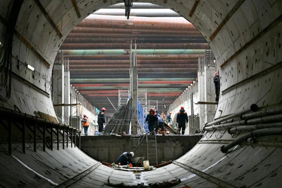Восточный участок Большой кольцевой линии метро готов на 30%