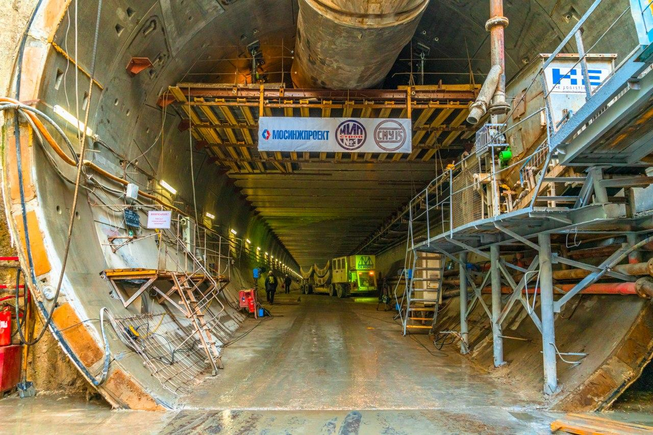 Сергей Собянин оценил готовность тоннелей восточного участка БКЛ