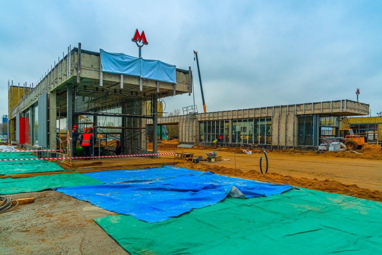 Строительство станции «Карамышевская» БКЛ вышло на финишную прямую