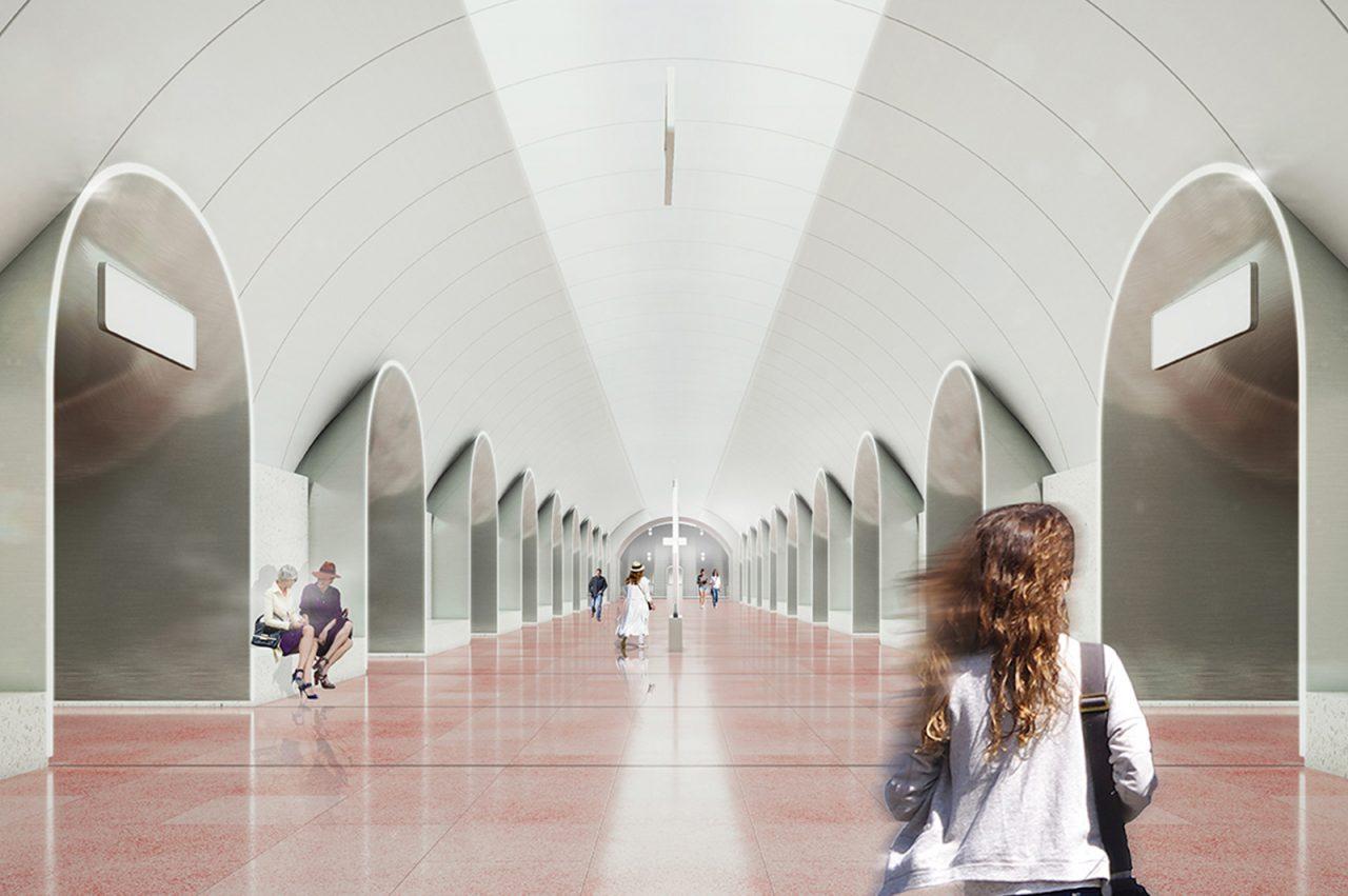 Архитектурный конкурс решил, какой будет станция «Рижская» БКЛ