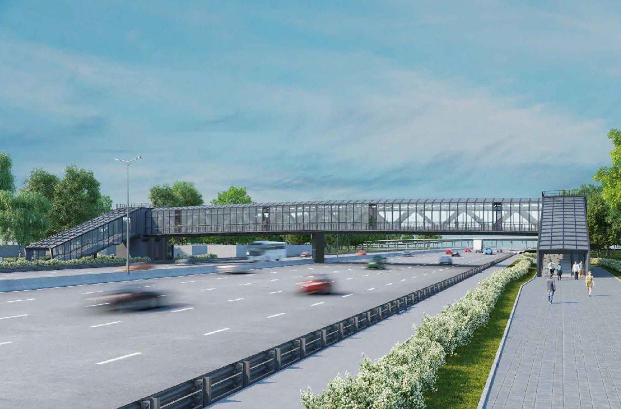 Москомархитектура одобрила проект надземного пешеходного перехода через МКАД