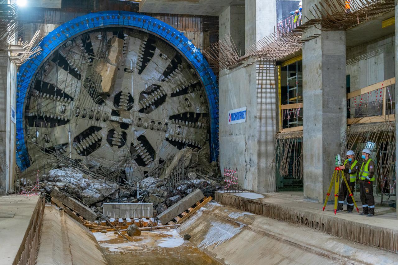 Завершена щитовая проходка тоннелей более 10 км в общей сложности на западном участке БКЛ