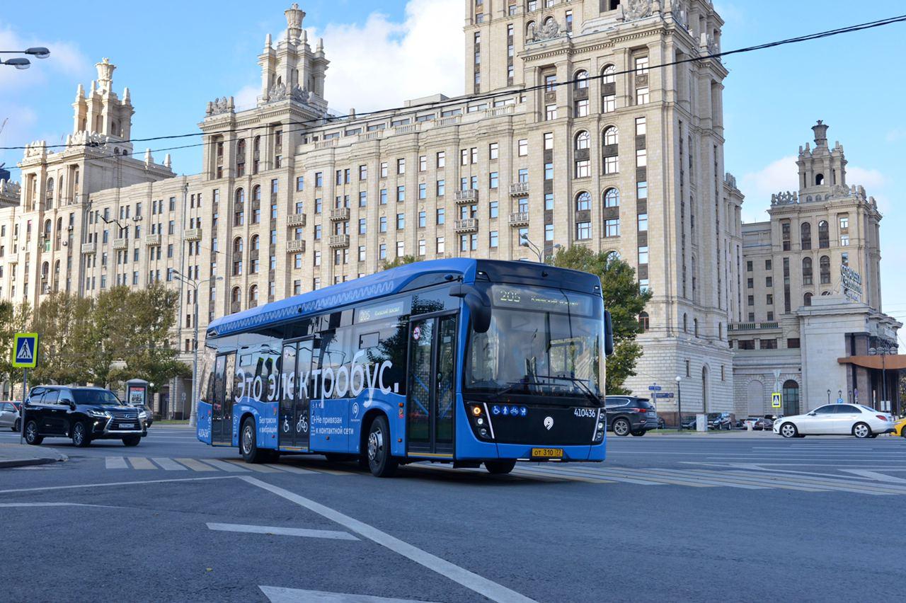 Электробусы вышли на маршрут №205 на западе Москвы