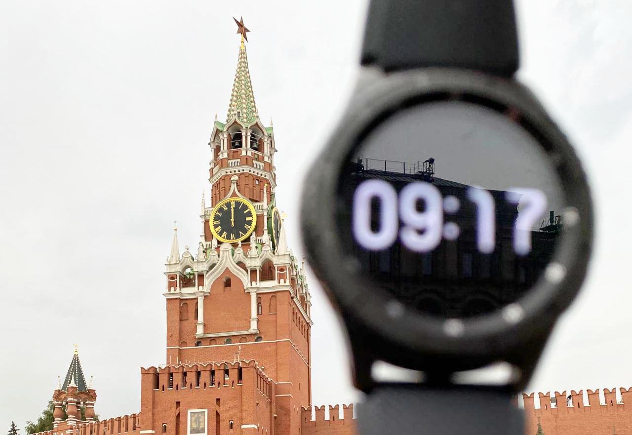 В Москве остановились Кремлёвские куранты