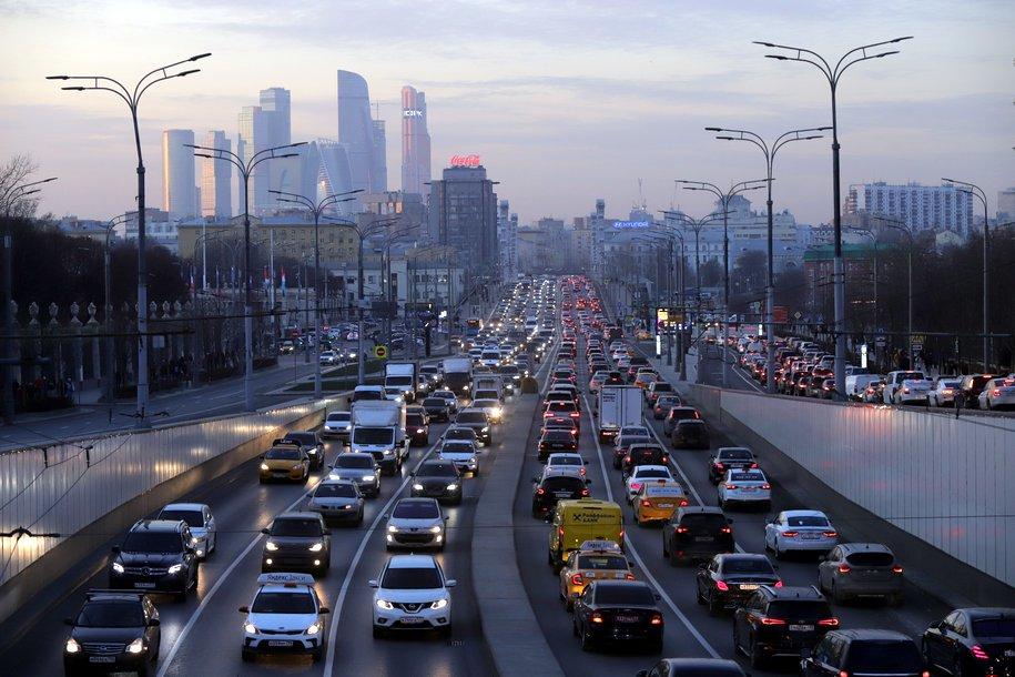 Загруженность столичных дорог снизилась на 13% за год