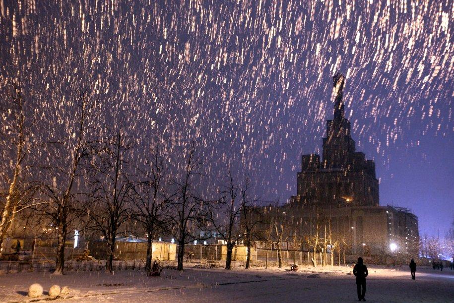 Москва в ожидании снегопада