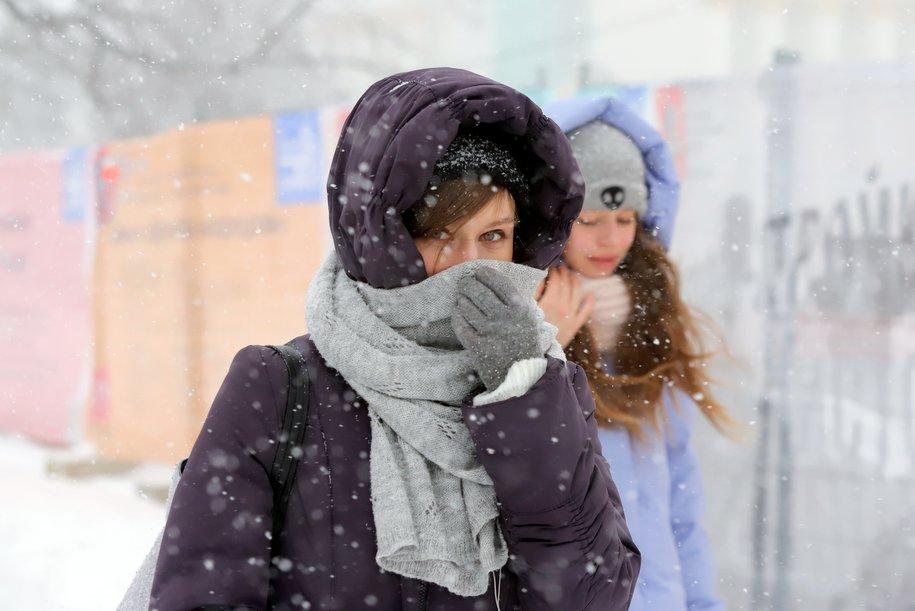 Температура до минус 9 градусов ожидается в Москве в понедельник