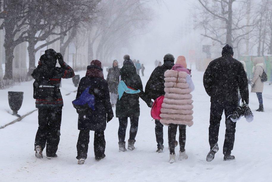 Слабый снег и до минус 6 градусов ожидает москвичей в субботу