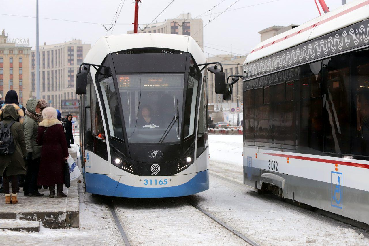На Покровском бульваре восстановлено трамвайное движение