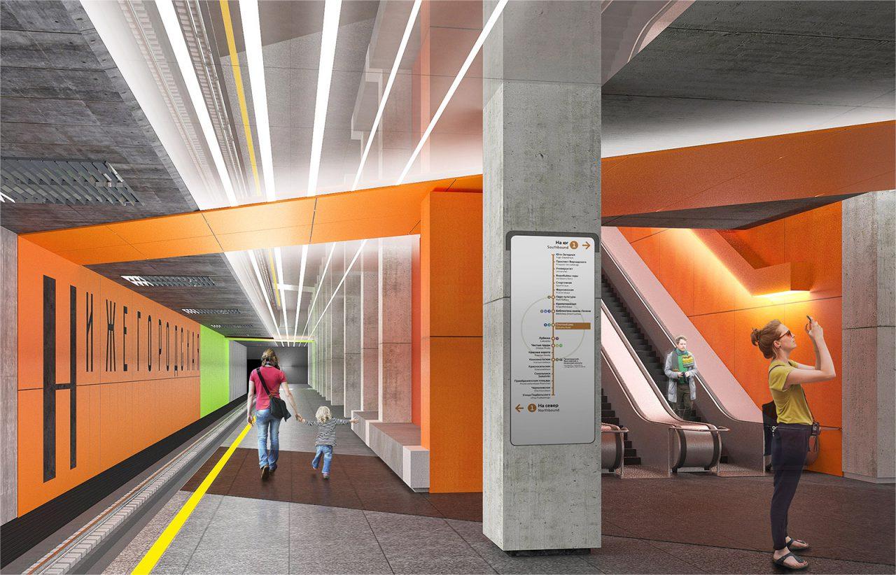 Обзор станции метро «Нижегородская»