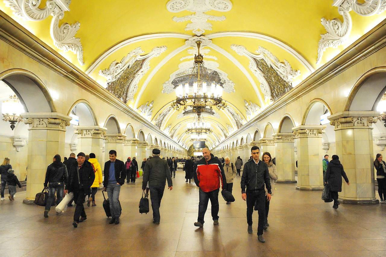 Станция «Комсомольская» стала самой популярной у горожан в 2020 году