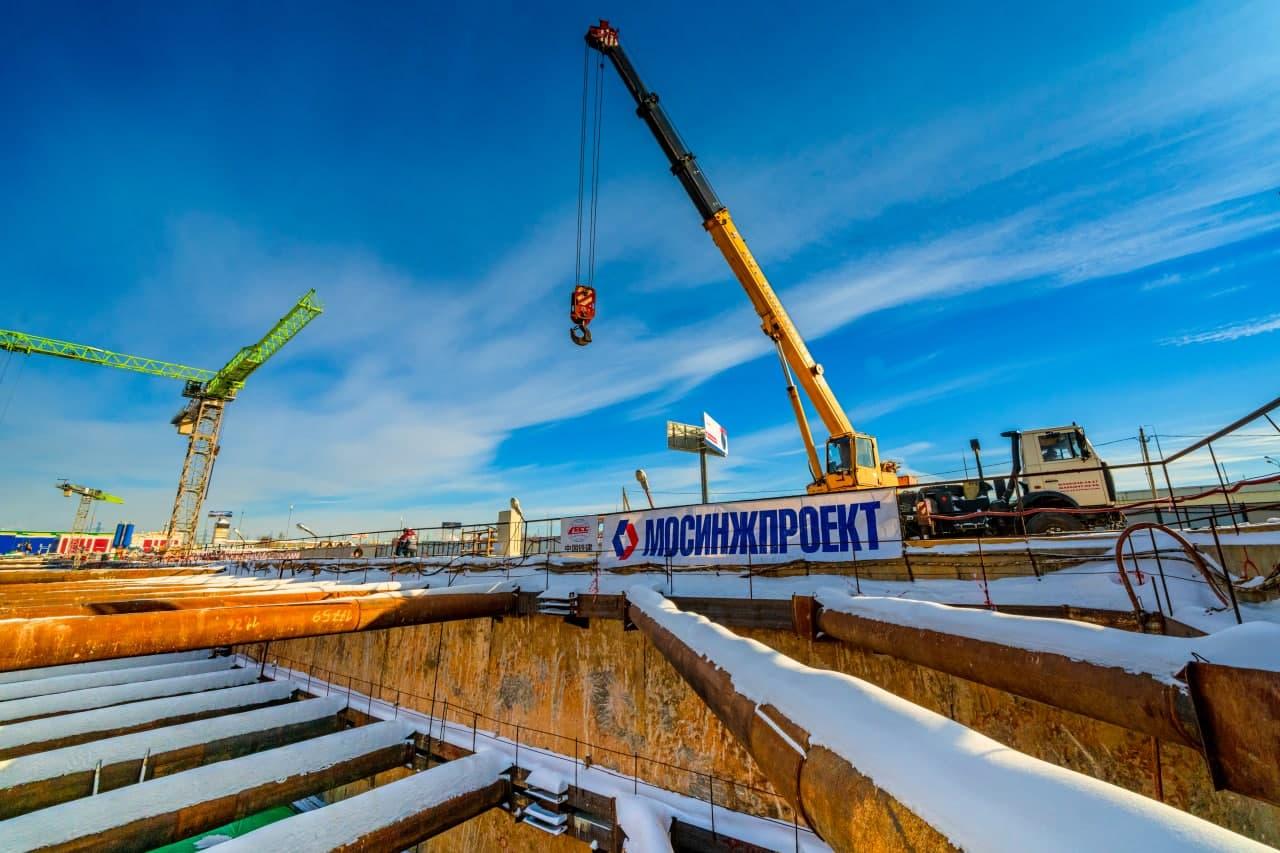 В Новой Москве начали строить вестибюль станции метро «Мамыри»