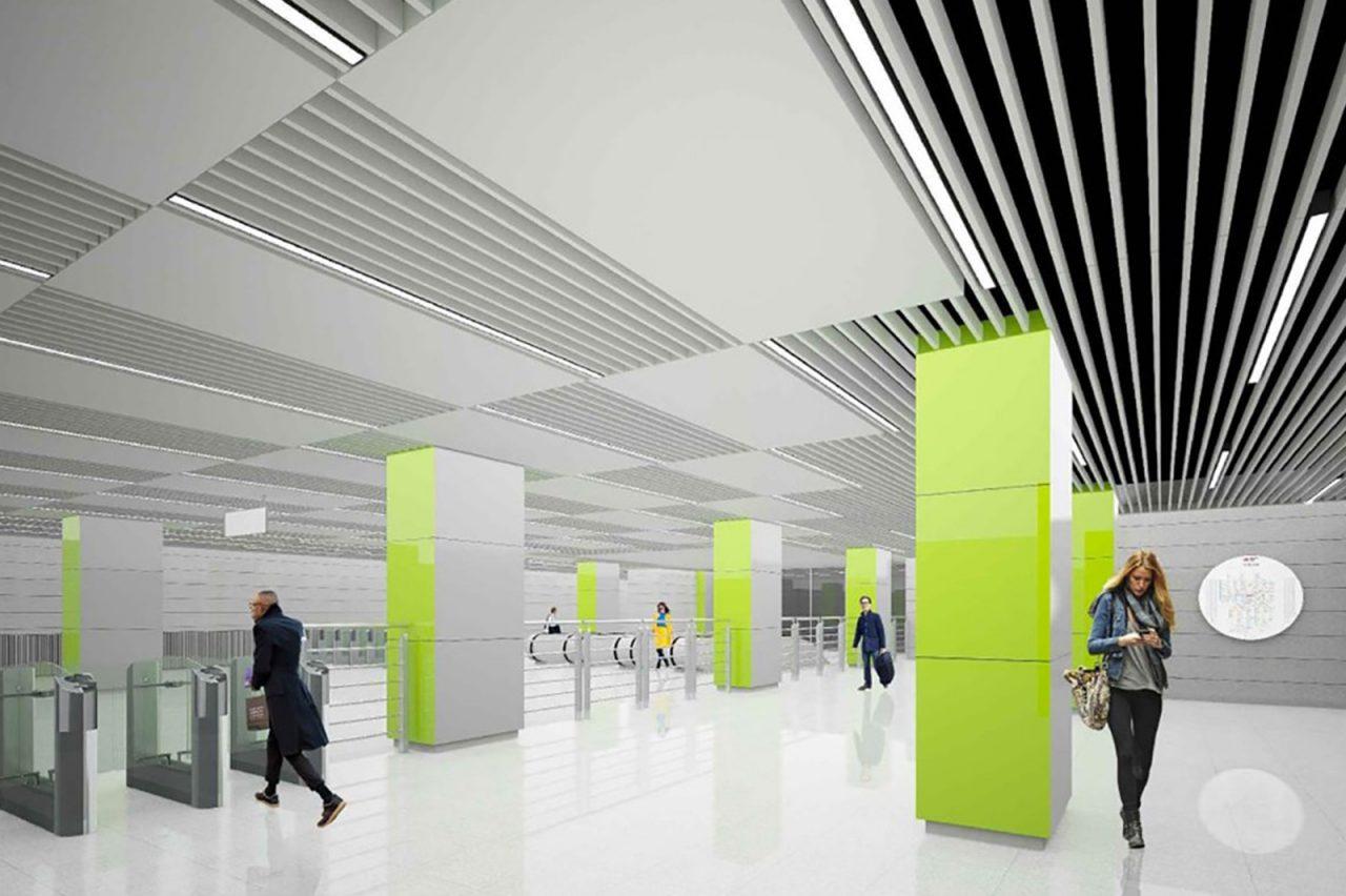 Станцию метро «Коммунарка» оформятв стиле биотек