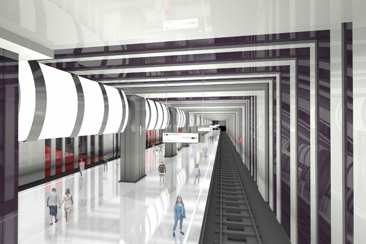 Станцию метро «Бачуринская» Троицкой линии оформят ассиметрично