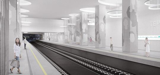 На станции метро «Терехово» завершают возводить монолитные конструкции