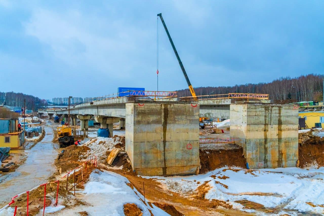 На перегоне между станциями метро «Пыхтино» и «Внуково» строится метромост