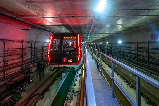 Назападном участке БКЛ метро началась накатка путей