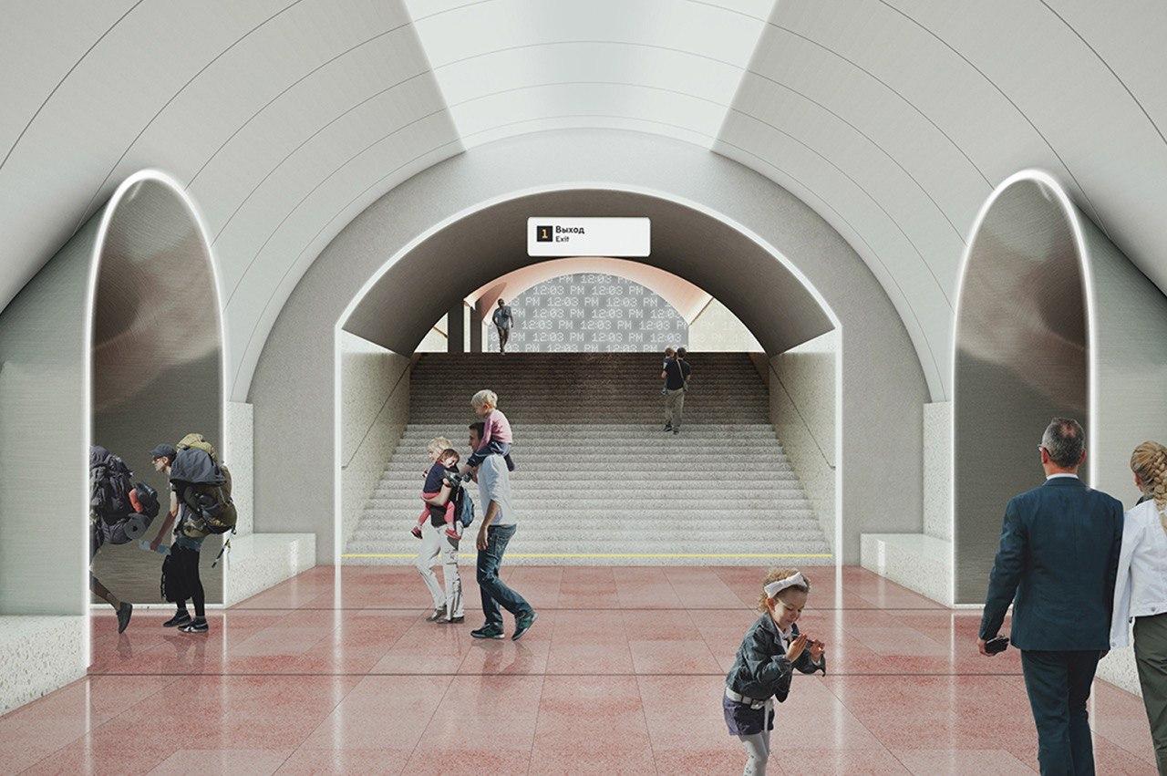 На станции «Рижская» готовятся к строительству эскалаторных сходов