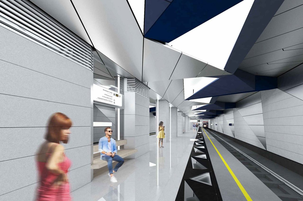 На станции «Внуково» строящегося участка Калининско-Солнцевской линии метро возводят основные конструкции