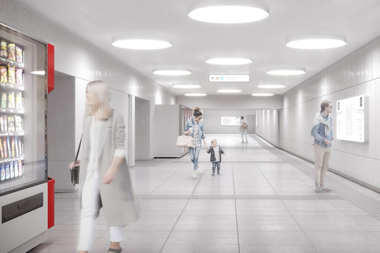 Архитектурная отделка станции «Терехово» БКЛ метро готова на 85%