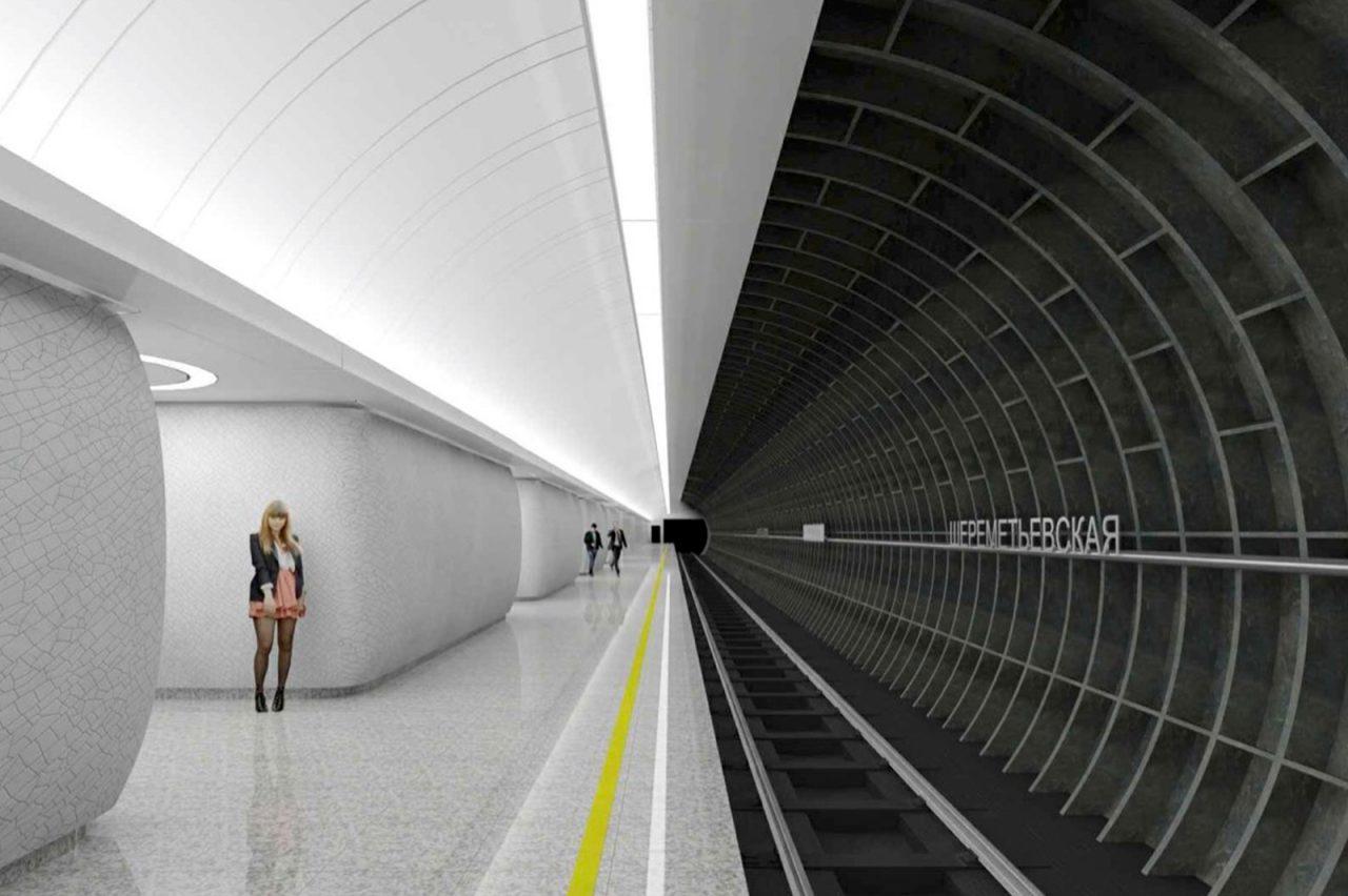 На строящейся станции «Марьина Роща» БКЛ метро идет сооружение пересадки на «салатовую» ветку
