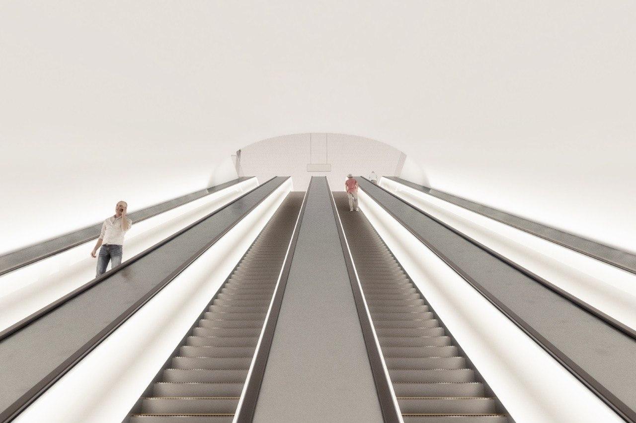 На «Марьиной Роще» смонтирован самый большой эскалатор мосметро