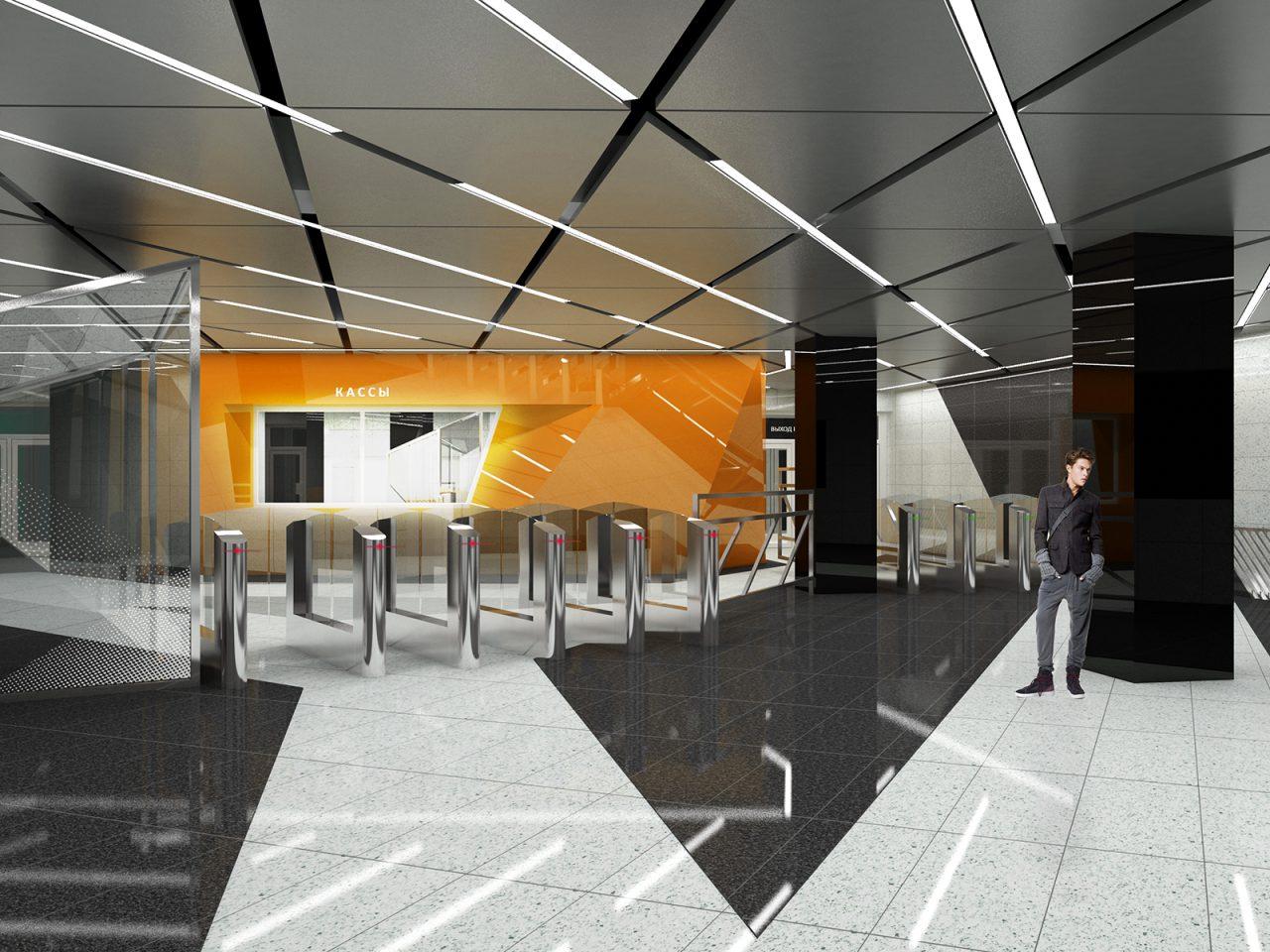 Монтаж декоративного потолка начался на станции БКЛ «Воронцовская»