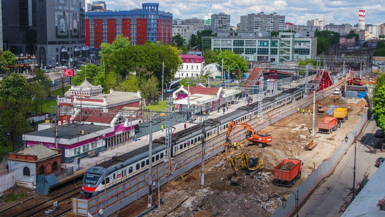 Первый этап реконструкции участка МЖД Каланчевская – Курская завершится в мае