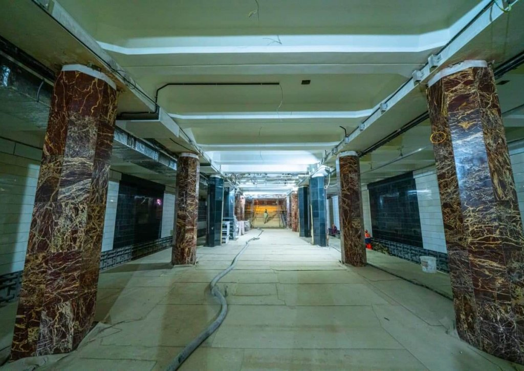 До конца года откроется после реконструкции станция БКЛ «Каховская»