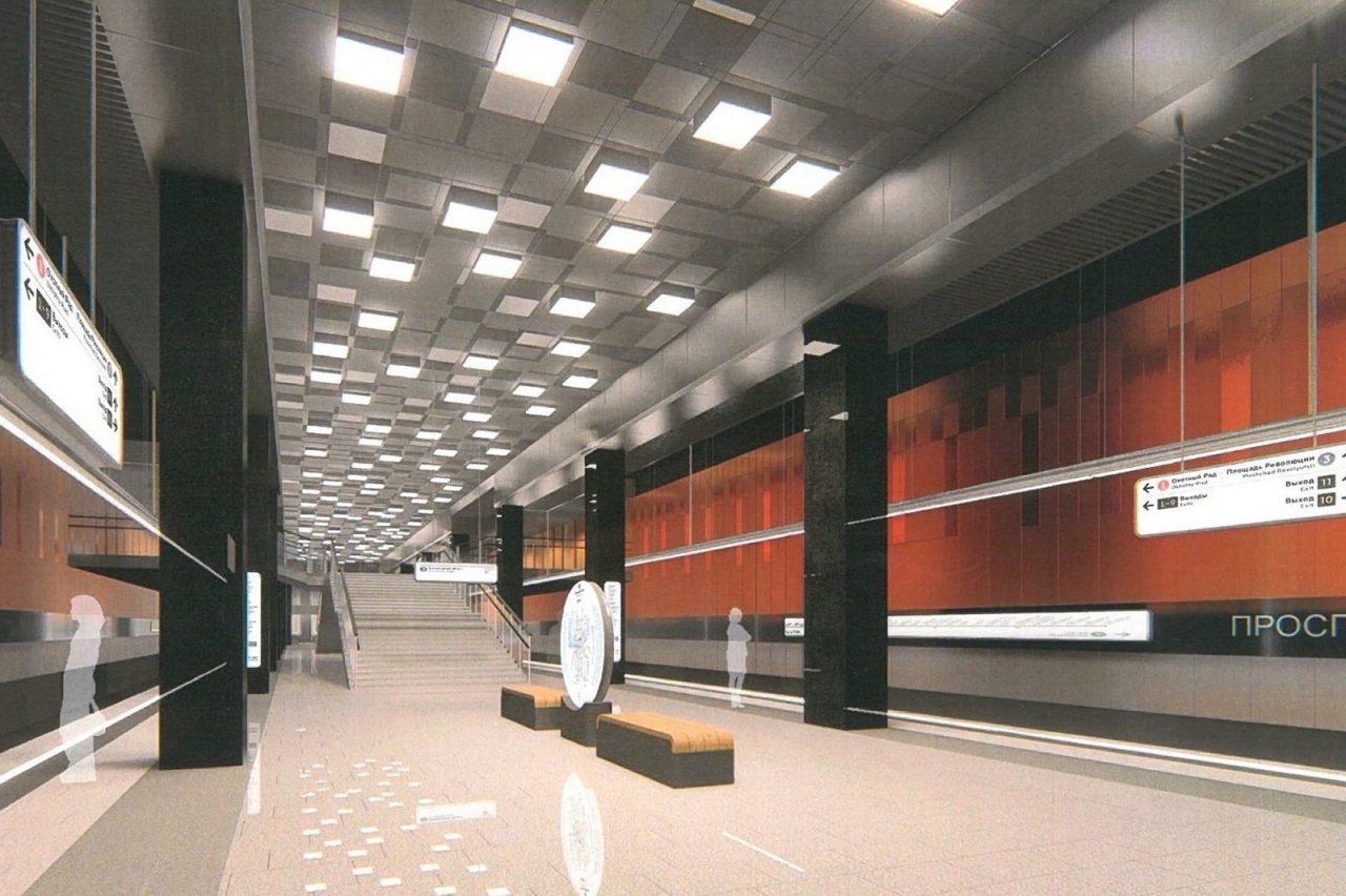 Продолжается строительство пересадки между станциями «Проспект Вернадского» Большой кольцевой и Сокольнической линий метро