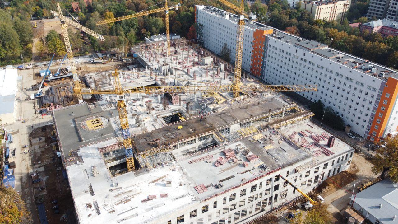 Завершены монолитные работы в лечебно-диагностическом комплексе МКНЦ имени Логинова