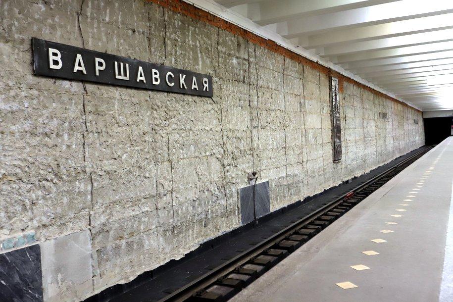 Близятся к завершению работы по облицовке платформы станции «Варшавская»