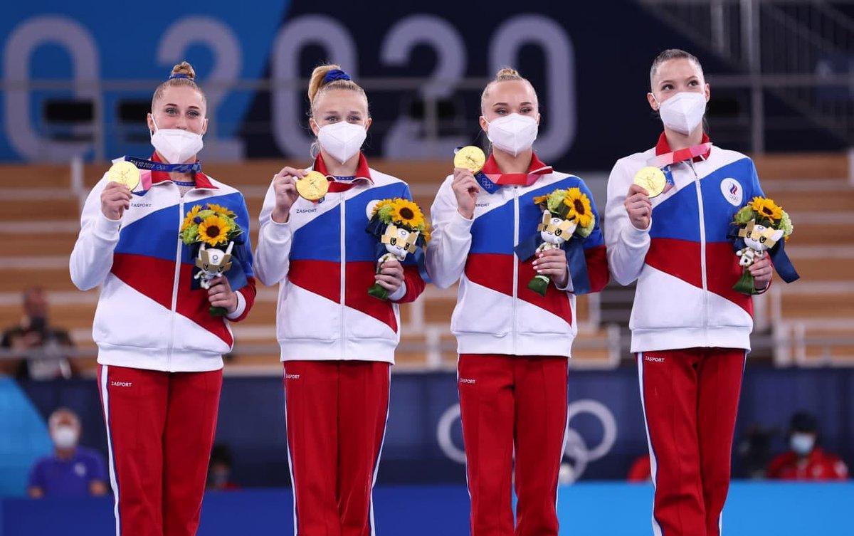 Женская сборная России по спортивной гимнастике впервые завоевала золото на Олимпиаде