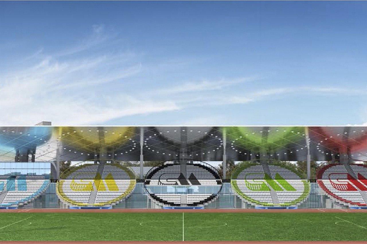 На стадионе «Москвич» ведутся работу по устройству футбольного поля