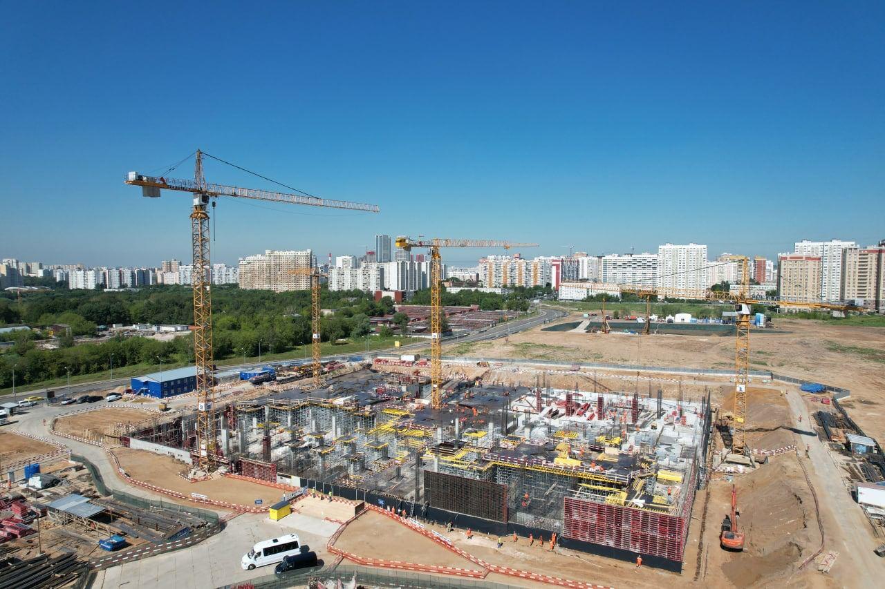 Работы подготовительного периода завершены на стройплощадке учебно-образовательного кластера «Ломоносов»