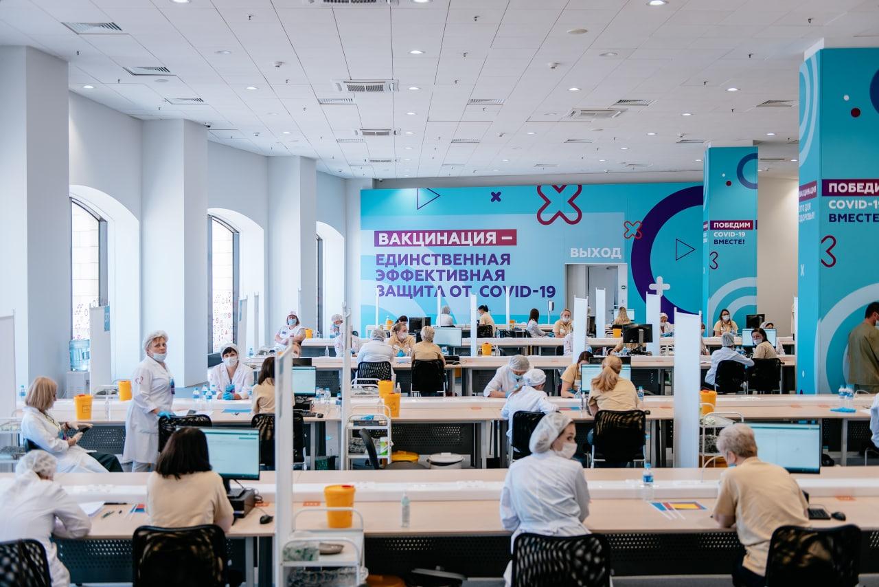 Пункты вакцинации в Москве свободны на 40%