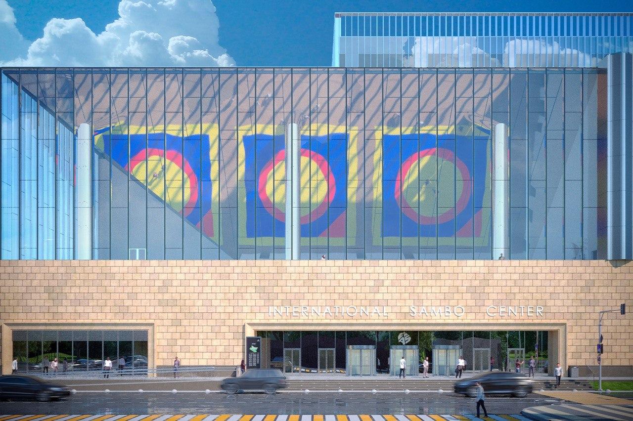 В Центре самбо и бокса в Лужниках начался монтаж стеклопакетов