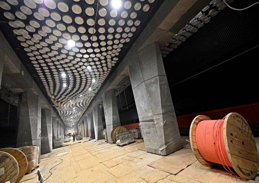 Южный участок Большой кольцевой линии метро готов почти на 90%
