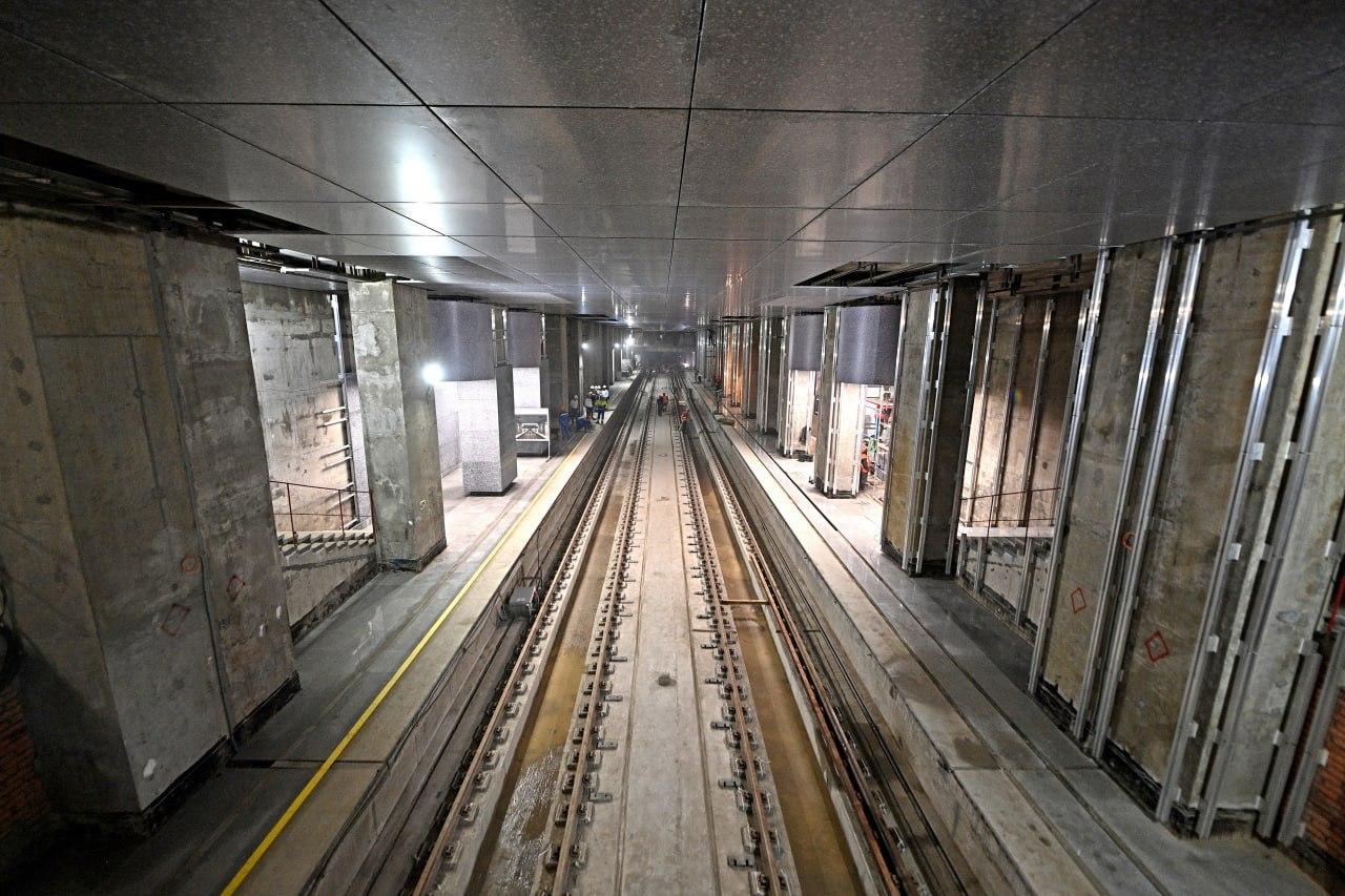На станции БКЛ «Кунцевская» завершается устройство основных конструкций