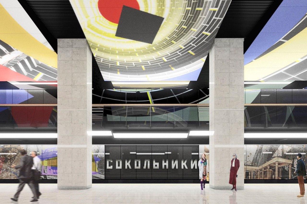 На станции БКЛ «Сокольники» начался монтаж декоративных панелей