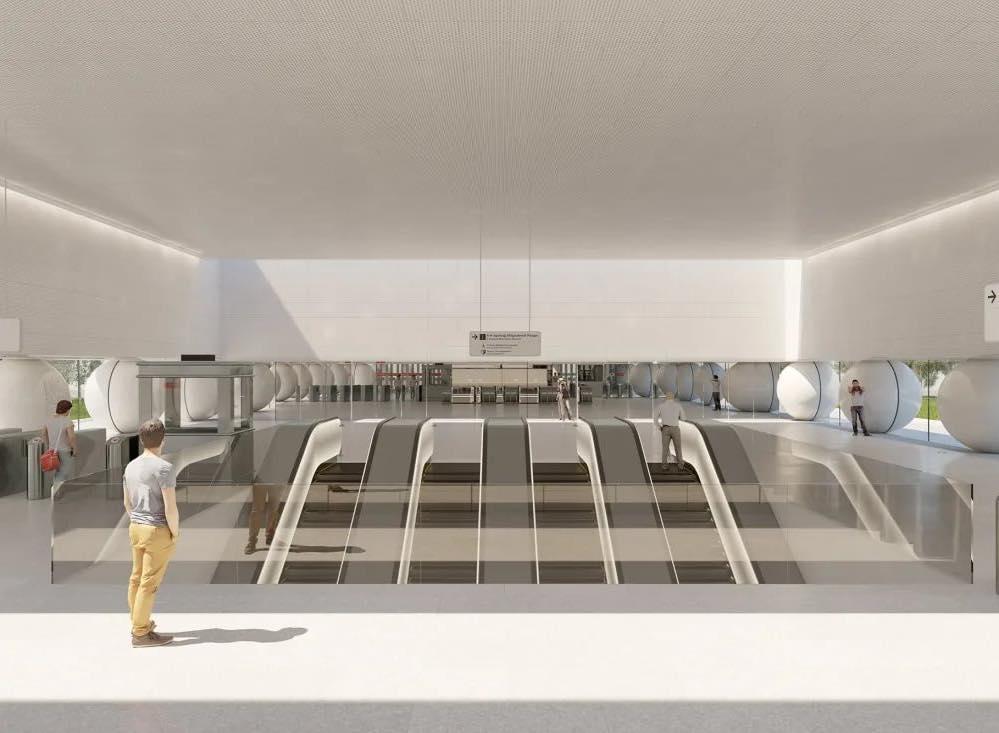 На станции БКЛ «Марьина Роща» завершается монтаж эскалаторов