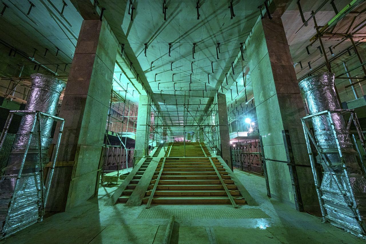 Станция «Марьина Роща» БКЛ метро готова почти на три четверти